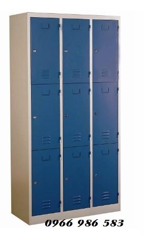 kệ siêu thị, Tủ cá nhân 9 ngăn màu xanh