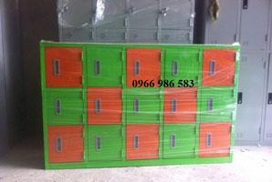 tủ sắt 15 ngăn mầm non màu xanh