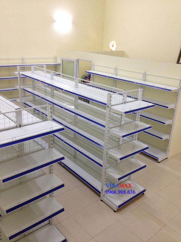 kệ siêu thị, Giá siêu thị kép, bộ đầu KT:1200x720x1800