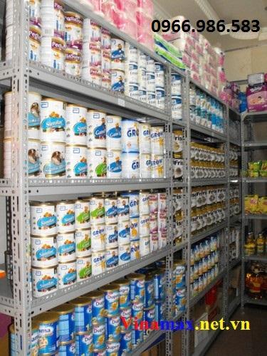 kệ siêu thị, Kệ sắt trưng bày sữa