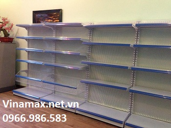 kệ siêu thị, Giá siêu thị đơn lưới lỗ, bộ nối tiếp KT:1200x390x1800