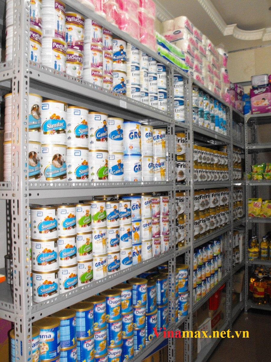 kệ siêu thị, Kệ để sữa bằng sắt V