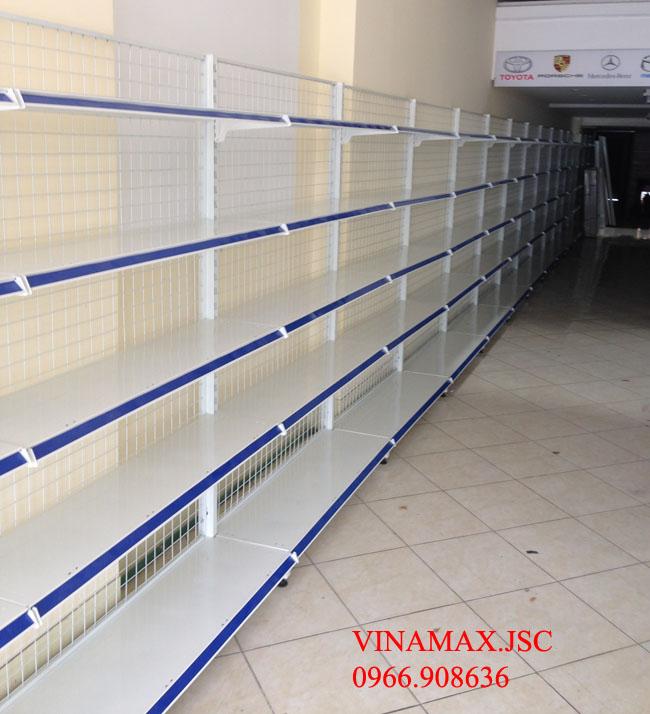 kệ siêu thị, Giá siêu thị đơn, bộ đầu KT:1200x390x1200