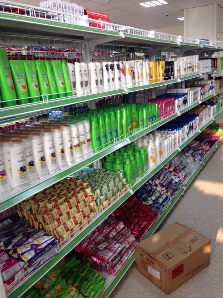 kệ siêu thị, Kệ siêu thị để dầu gội