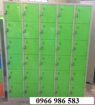 Tủ locker 30 ngăn màu xanh