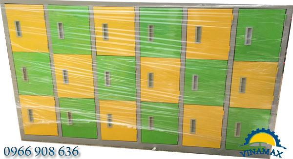 Tủ sắt locker 18 ngăn nằm ngang