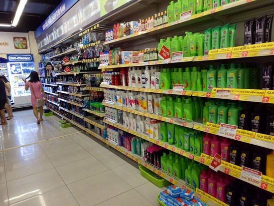 kệ siêu thị để dầu gội đầu